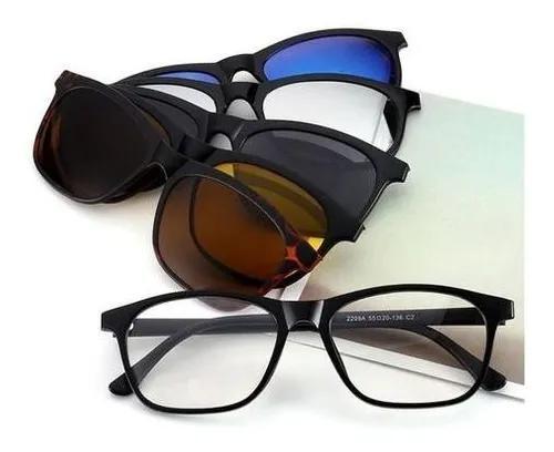 Armação de óculos de grau com clip on 6