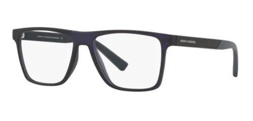 Armação oculos grau armani exchange ax3055 8273 55 azul