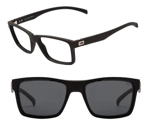 Armação oculos grau hb 0339 10103390243032 clipon