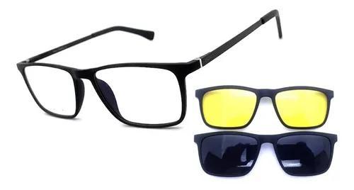 Armação oculos grau masculino pr