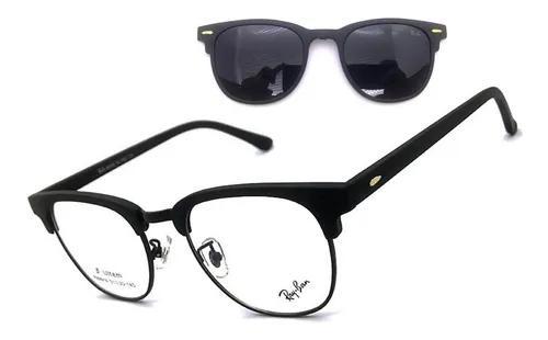 Armação oculos grau solar aluminium clip on original
