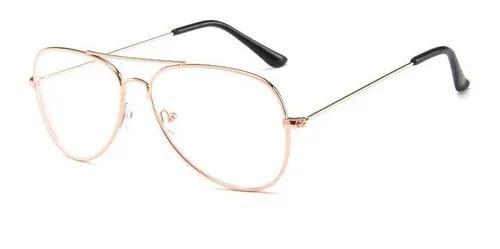 Armação óculos grau aviador metal f