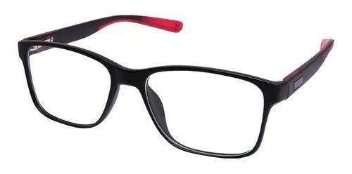 Armação óculos grau masculino quadrado esportivo preto