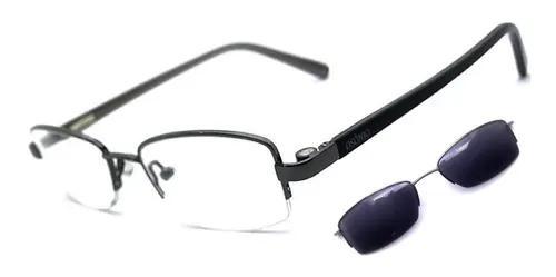 Armação óculos grau solar masculino clip on original
