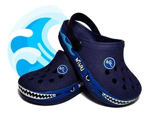 Babuche sandalia infantil criança fundo do mar confortavel