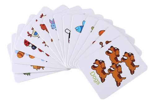 Bonito bebê crianças early learning iron box jogo cartões