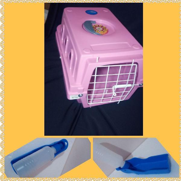 Caixa de transporte para gatos e cães de pequeno porte com