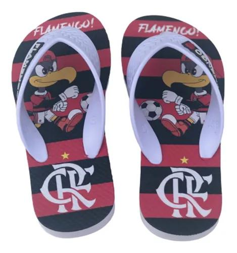 Chinelo infantil flamengo sandália times futebol