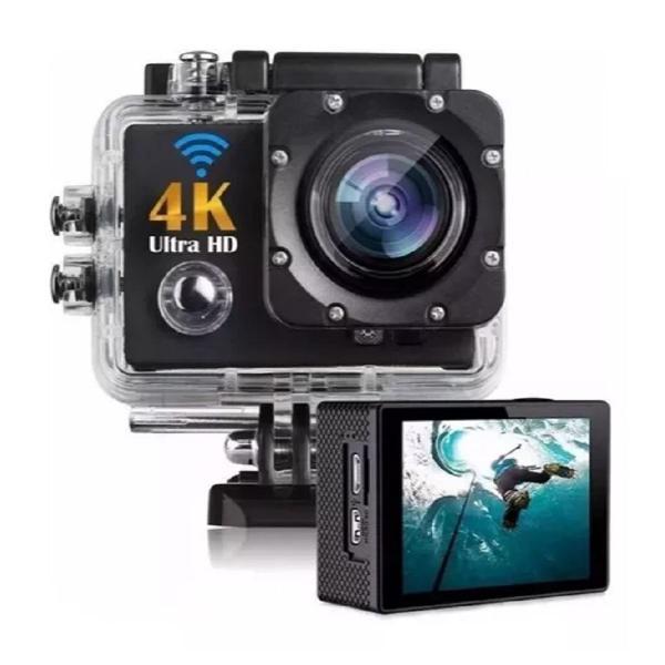 Câmera fotografica filmadora 4k ultra hd wifi a prova