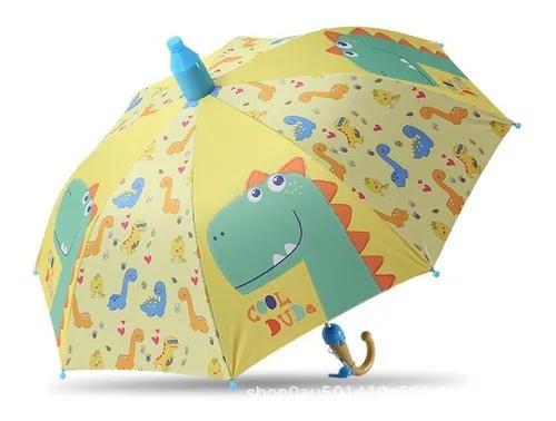Guarda chuva criança com desenho colorida com capa acrilico