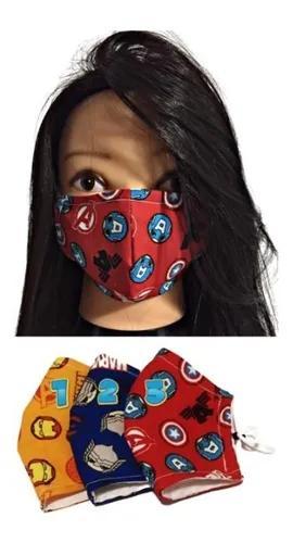 Kit 2 máscaras higiênicas de proteção infantil lavável