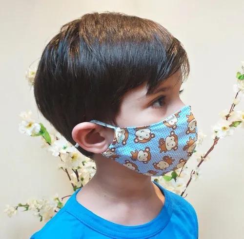 Máscara de proteção tecido lavável infantil e bebê 6