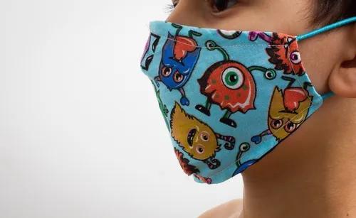Máscara proteção lavável