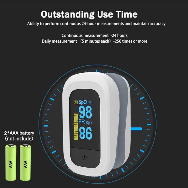 Oximetro de pulso portátil de dedo digital