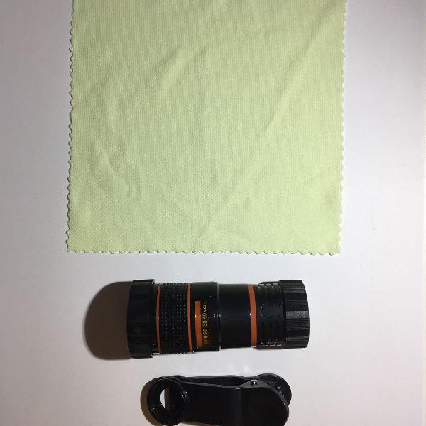 Universal 8x zoom celular telescópio câmera clipe