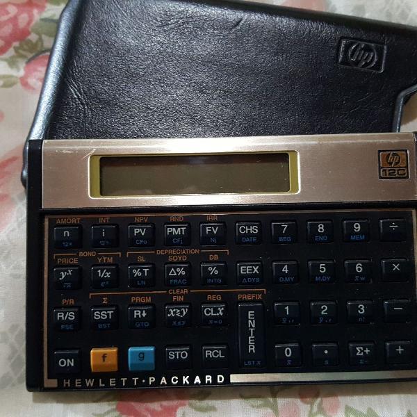 Calculadora científica hp 12c dourada