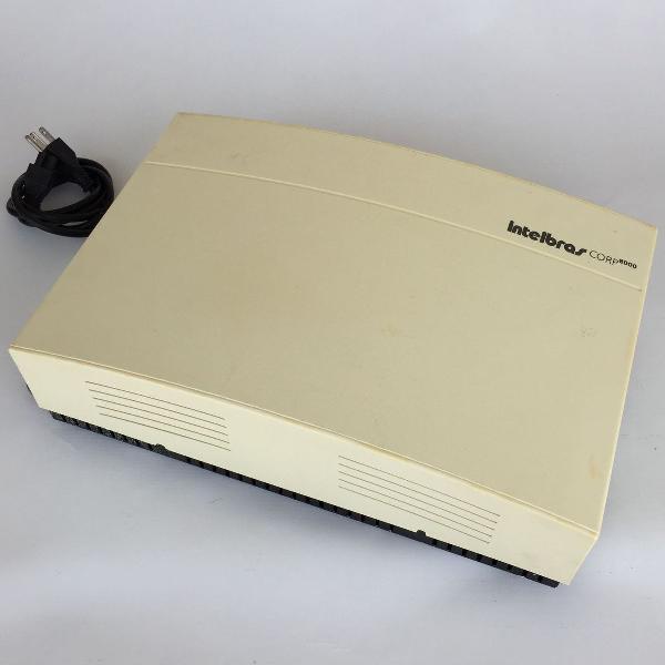 Central telefônica pabx intelbras corp 8000 com cabo de