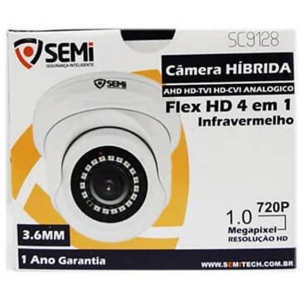 Câmera para cftv com flex hd 4 em 1 - 1.0m - dome - sc9128