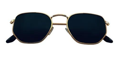 Culos de sol hexagonal dsm moda blogueira dourado original