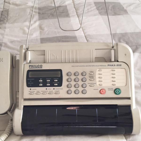 Fax copiadora e secretária eletrônica