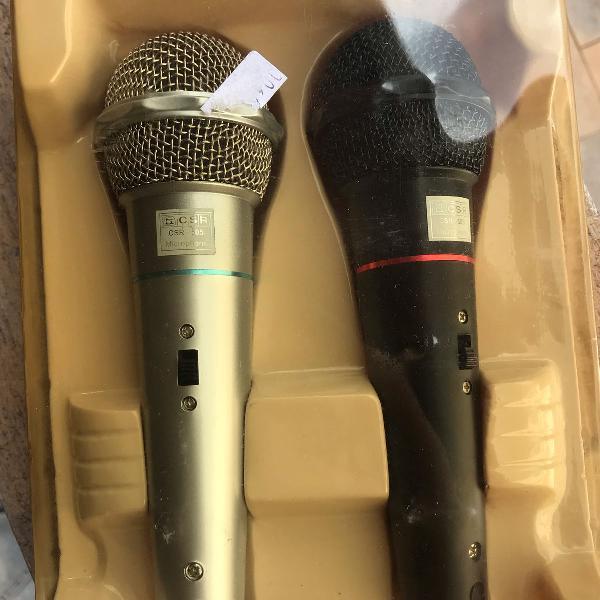 Kit 2 microfones dinamic com fio
