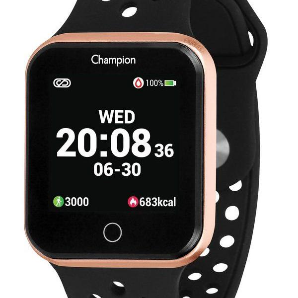 Relogio smart watch champion dourado/preto