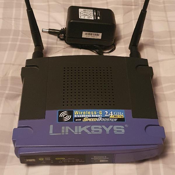 Roteador wireless linksys com 2 antenas