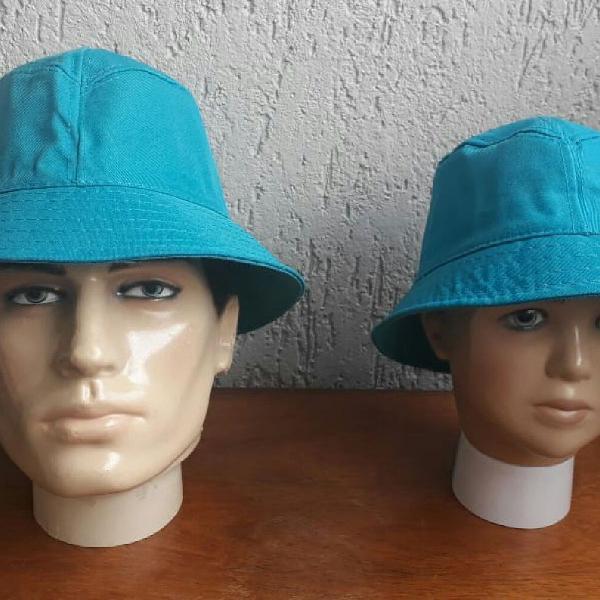 Azul da cor do mar chapéus pai e filho mãe e filha
