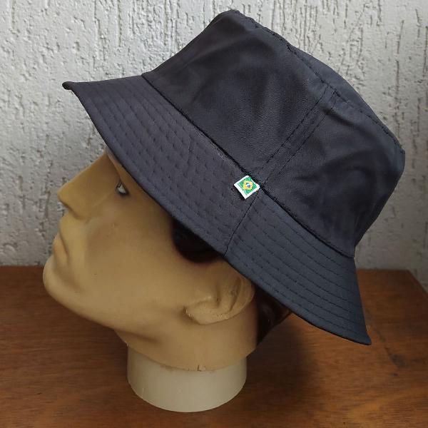 Black mambo chapéu bucket hat unissex sem costuras na copa