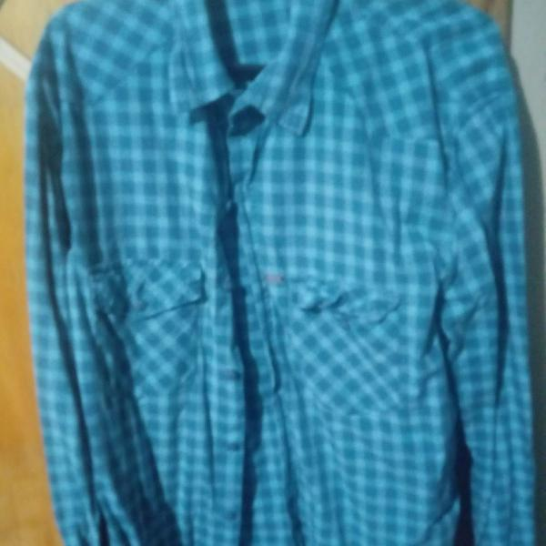 Camisa xadrez verde água masculina. moda geek grunge