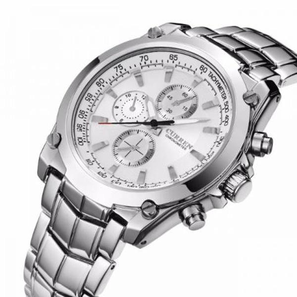 Relógio masculino curren original lançamento pronta