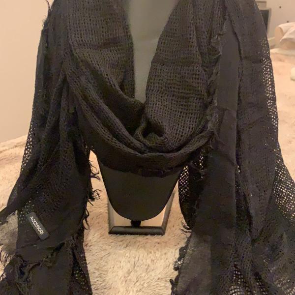 Cachecol preto accessori