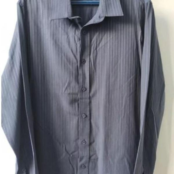 Camisa social azul marinho