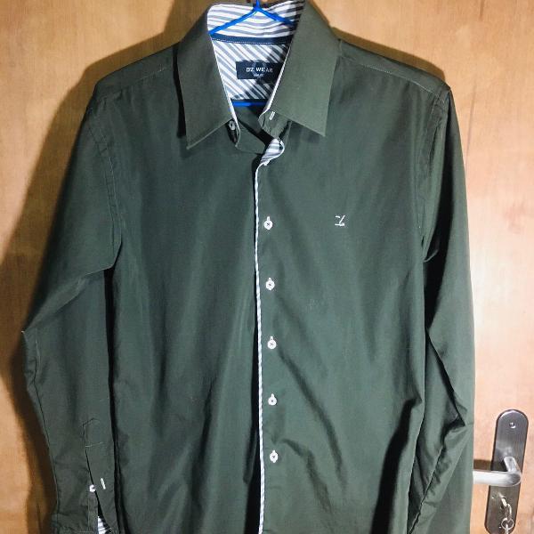 Camisa social diz wear masculina verde
