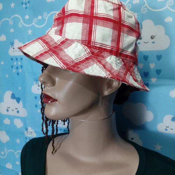 Chapéu bucket xadrez vichy