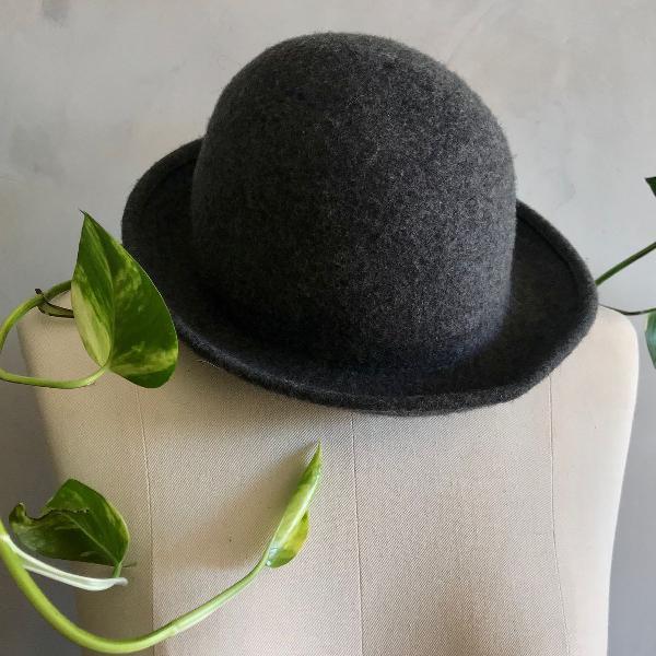 Chapéu cinza 100% lã