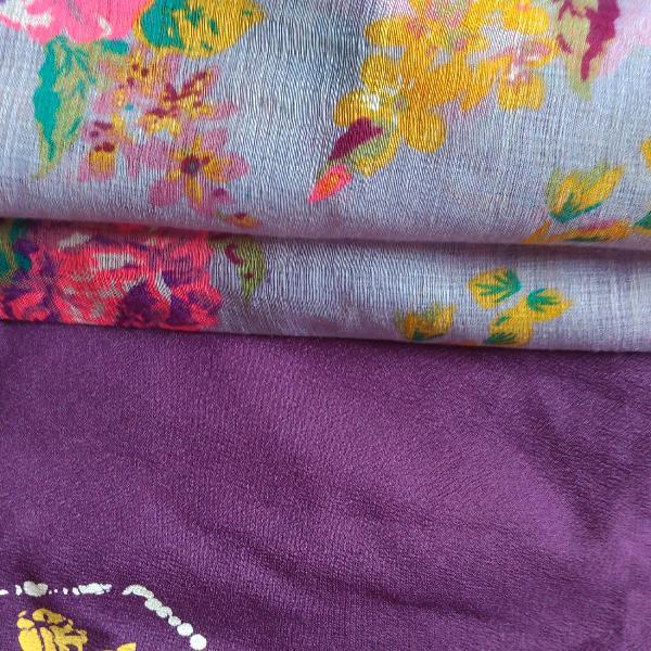 kit com dois lenços vintage