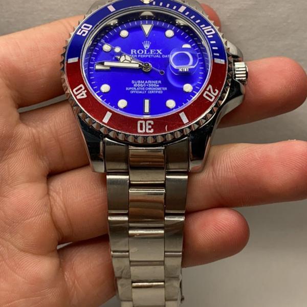 Relógio masculino rolex prata