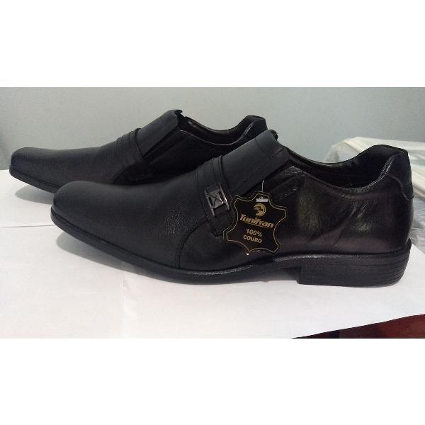 Sapato social couro legítimo tonifran preto masculino