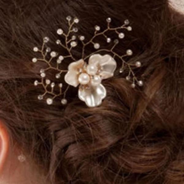 Grampo enfeite de cabelo para noivas, debutantes ou festas