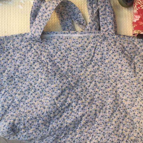 bolsa floral para ir à praia/ compras