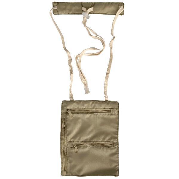 Bolsa invisível pochete viagem de pescoço doleira porta