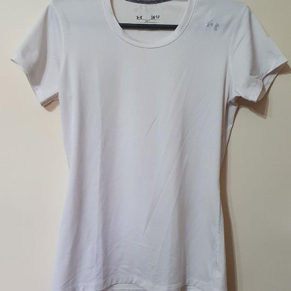 Camiseta dry fit under armour branca p