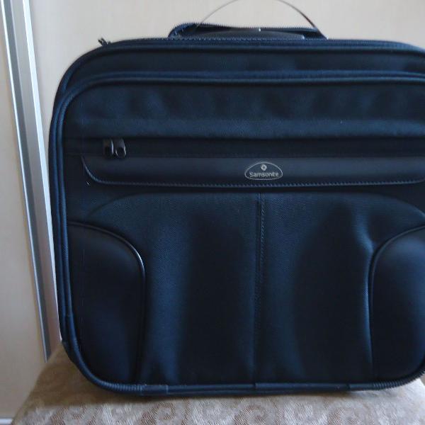 Pasta maleta executiva samsonite com rodas/ver descrição