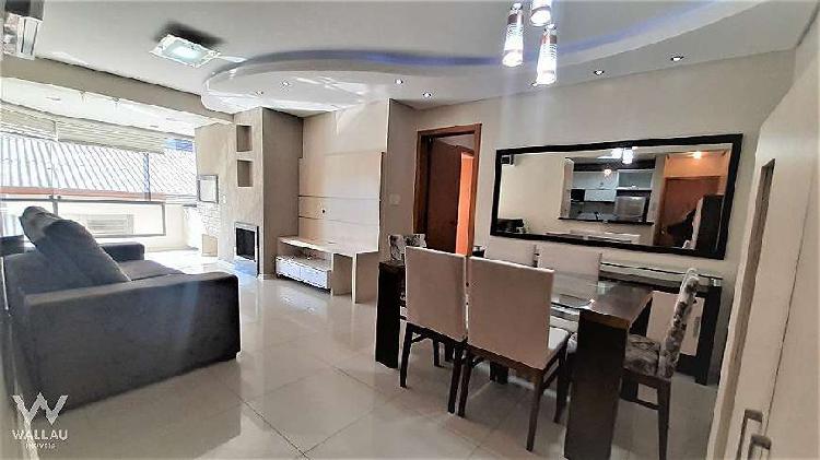 Apartamento mobiliado com 3 quartos em centro - novo