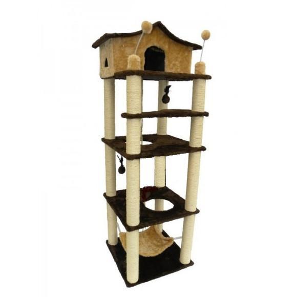 Arranhador torre 4 andares para gatos mod. 1003a