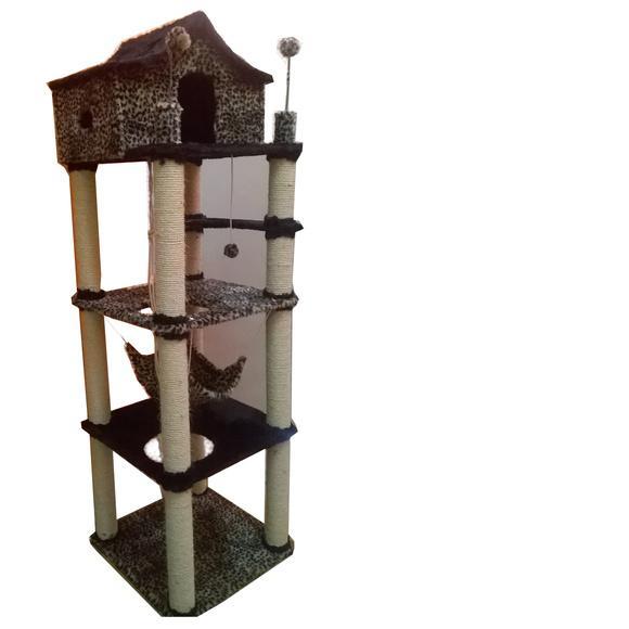 Arranhador torre 4 andares para gatos mod.1008