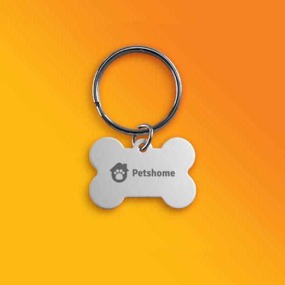 Pingente identificação pet personalizado