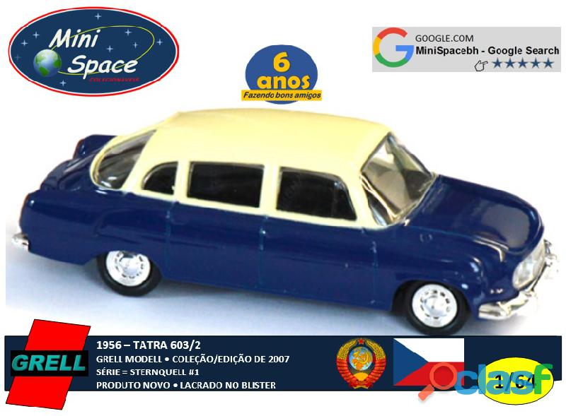 Grell Modell 1956 Tatra 603/2 cor Azul 1/64