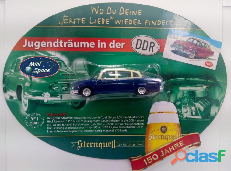 Grell Modell 1956 Tatra 603/2 cor Azul 1/64 5